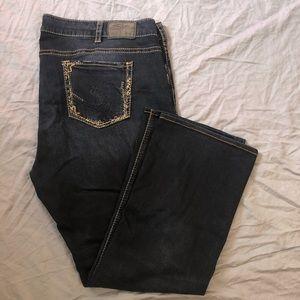 Silver Jeans Elyse slim bootleg dark wash size 24